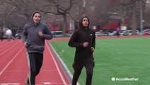 Exercising outdoors in cold air