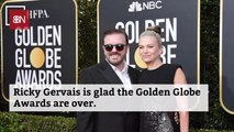 Ricky Gervais After The Golden Globe Awards