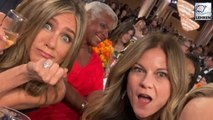 Jennifer Aniston Happy For Brad Pitt's Win, Drinks Beyoncé & Jay-Z's Champagne With Reese!