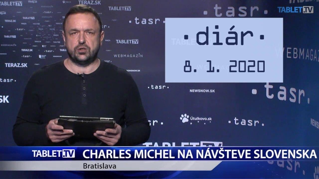 DIÁR: Predseda Európskej rady Charles Michel na návšteve Slovenska