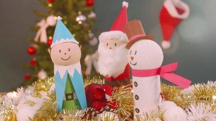 Weihnachtsfiguren mit Kindern basteln