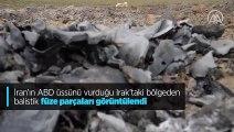 İran'ın ABD üssünü vurduğu Irak'taki bölgeden balistik füze parçaları görüntülendi