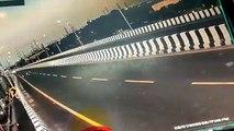 Coimbatore: Car crash in a bridge CCTV footage - Video