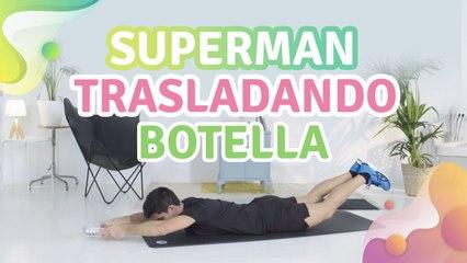 Superman trasladando botella - Mejor con salud