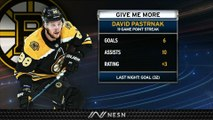 David Pastrnak Extends NHL Lead For Goals With 32nd vs. Predators