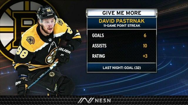 David Pastrnak Extends NHL Lead For Goals With 32nd vs. Predators
