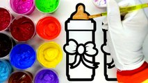 Painting Apple  Painting Coloring Pages for Children to Learn Painting