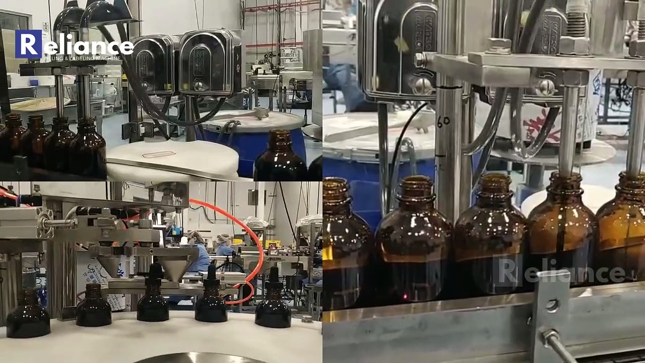CBD oil filling and capping machine monoblock, glass dropper bottle filling machine RELIANCE