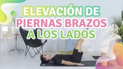 Elevación de piernas brazos a los lados - Mejor con salud
