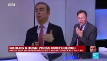 "Carlos Ghosn press conference: ""He sounds like a man who believes the world is treating him badly"""