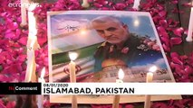 ویدئو؛ زنان شیعه پاکستانی در یادبود قاسم سلیمانی شمع روشن کردند