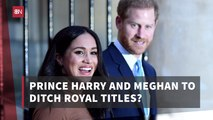 The Duke And Duchess Of Sussex Step Back