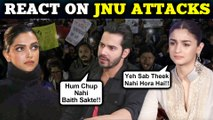 Alia Bhatt, Varun Dhawan, Deepika Padukone REACT To The JNU Masked MOB Attacks, Delhi
