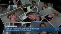 Use of force 'justified' in arrest