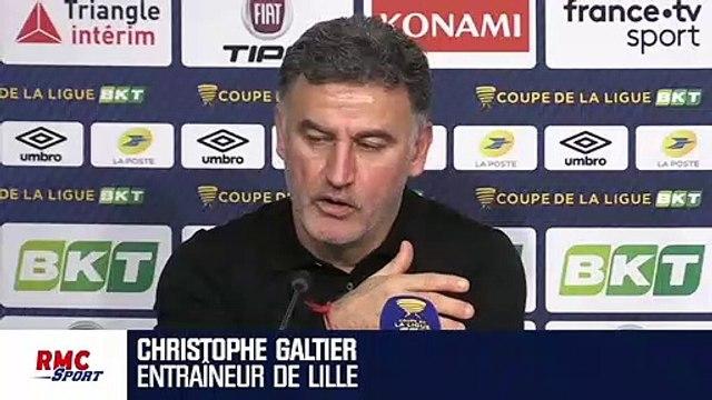 """Lille : Galtier veut éviter """"l'ogre"""" parisien en demi-finales de la Coupe de la Ligue"""