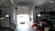 Rentrer sa voiture dans le garage la porte ouverte