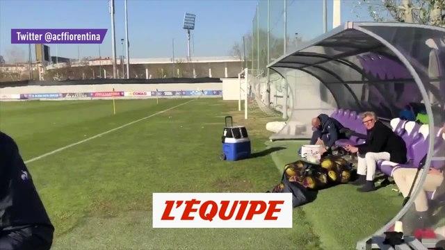 Blessé, Ribéry rend visite à ses coéquipiers - Foot - WTF
