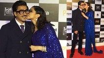 Deepika Padukone & Ranveer Singh kiss each other at Chhapaak premiere;Watch video   FilmiBeat