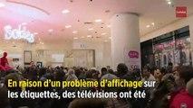 Montpellier : des télévisions ultra-soldées provoquent une cohue