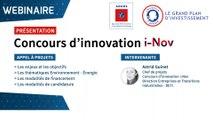 Concours d'innovation i-Nov du PIA ADEME pour PME et start-ups