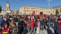 Manifestation à Toulon contre la réforme des retraites