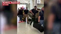 U.S. Firefighters Applauded As They Arrive In Australia To Assist With Bushfire Efforts