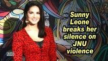 Sunny Leone breaks her silence on JNU violence