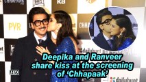 Deepika Padukone and Ranveer Singh share kiss at the screening of 'Chhapaak'