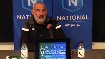 Vidéo – le point presse du coach F. Ciccolini avant Avranches / Gazélec Ajaccio