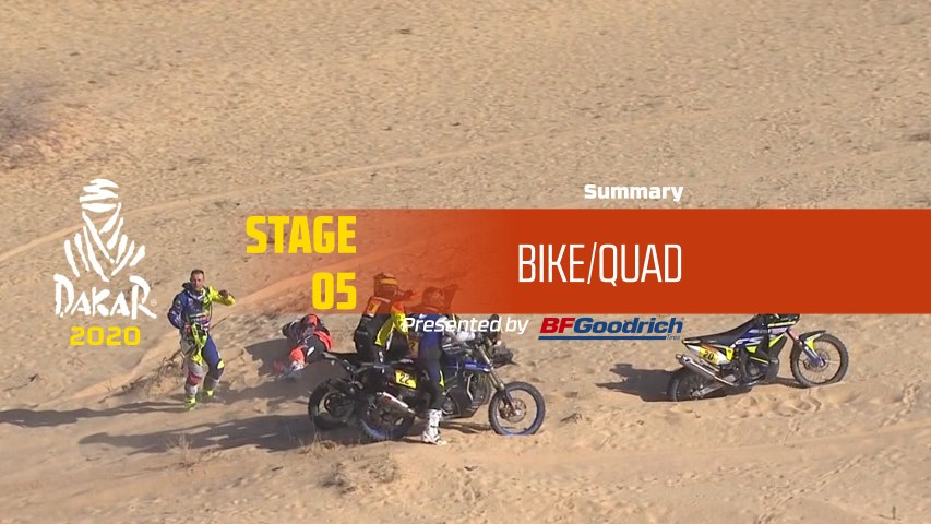 Dakar 2020 - Stage 5 (Al Ula / Ha'il) - Bike/Quad Summary