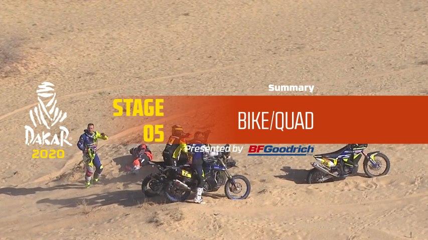 Dakar 2020 - Stage 5 (Al Ula / Ha'il) - Bike/Quad Summary