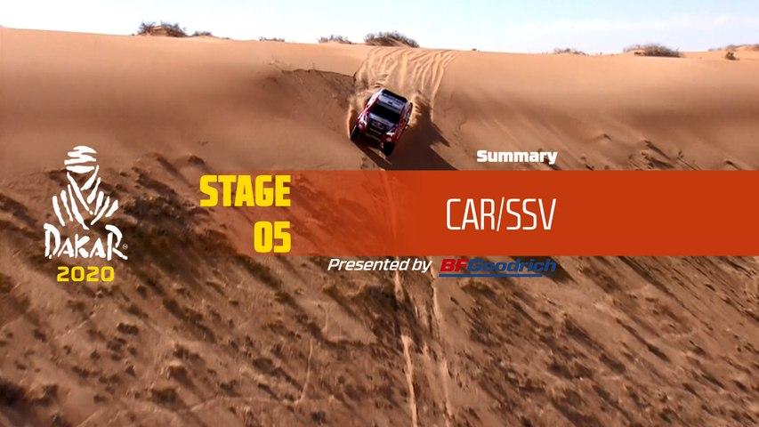Dakar 2020 - Stage 5 (Al Ula / Ha'il) - Car/SSV Summary