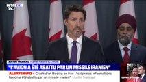 """Selon Justin Trudeau, de """"multiples"""" sources indiquent que l'Iran a abattu le Boeing qui s'est écrasé près de Téhéran"""
