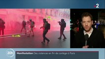 Grève du 9 janvier : des heurts en fin de cortège à Paris