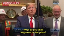 Trump On Plane Crash In Iran: 'I Have My Suspicions'