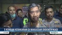 Polisi Sulit Identifikasi 5 Korban Kebakaran Ruko di Makassar