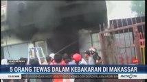 5 Orang Tewas dalam Kebakaran Ruko di Makassar