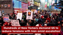 Hundreds of New Yorkers demand US to reduce tensions with Iran amid escalation