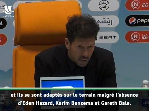 """Supercoupe d'Espagne - Simeone : """"Zidane est un entraîneur fantastique"""""""