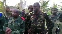 Beni|: L'armée a pris ce jeudi le contrôle de Madina, l'un des grands bastions des rebelles ADF. Le général Nkuba Cirimwami félicite l'unité qui a accompli la tâche.