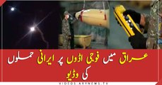 Iran attack on military base video