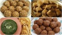 LOHRI & MAKAR SANKRANTI Special | Til Ladoo | Til Gud Chikki | Missi Roti | Pinni Ladoo