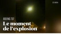 """Le """"New York Times"""" révèle des images du Boeing 737 ukrainien touché par un missile iranien"""
