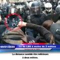 Police : Tir de LBD à moins de 2 mètres