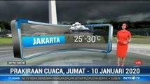 Prakiraan Cuaca Sore Hingga Malam, 10 Januari 2020