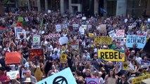 Miles reclaman medidas contra calentamiento global en Australia
