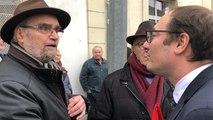 Les manifestants rencontrent le député Masseglia