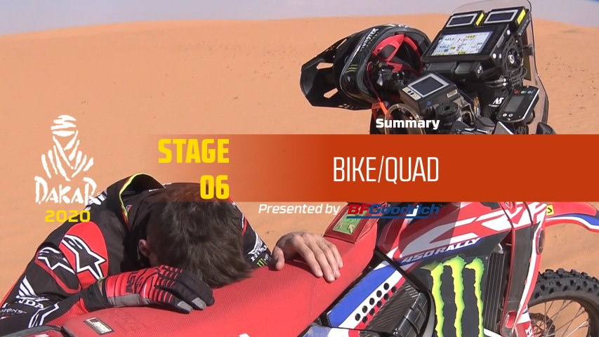 Dakar 2020 - Stage 6 (Ha'il / Riyadh) - Bike/Quad Summary