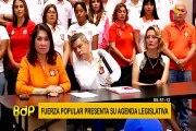 Elecciones 2020: Fuerza Popular presentó su agenda legislativa