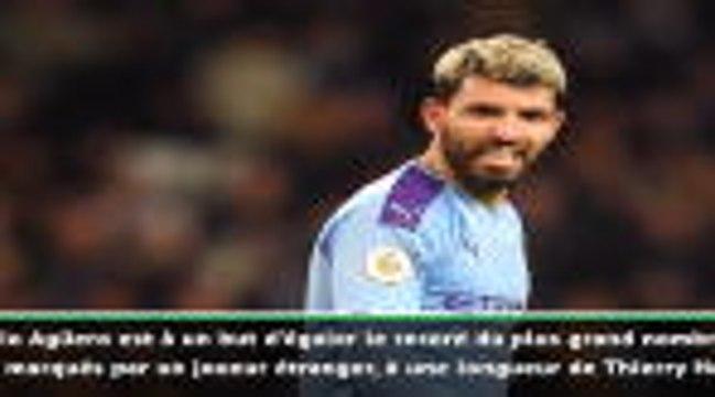 """22e j. - Guardiola sur Agüero : """"Egaler ou dépasser Thierry Henry est un exploit incroyable"""""""